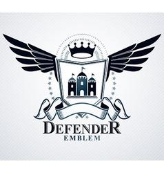 Vintage emblem heraldic design vector