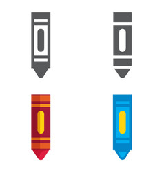wax colorful crayons designed icons set vector image