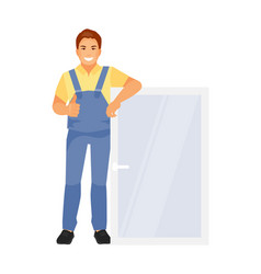 Window installer vector