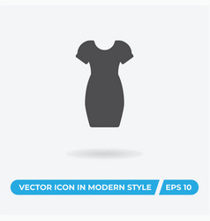 women dress icon simple car sign vector image