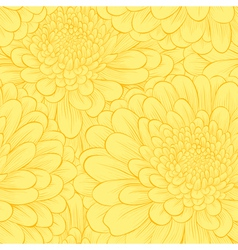 Beautiful seamless pattern with hand-drawn flowers vector image vector image