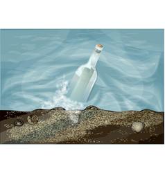 bottle in water vector image