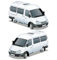 delivery cargo van vector image