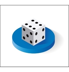 Dice Isometric icon Isolated on white background vector image