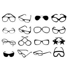eye glasses icons set vector image vector image