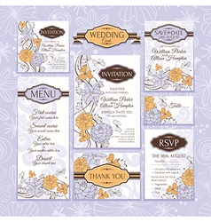 floral wedding cards vector image vector image