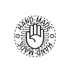 hand-made badge vector image vector image