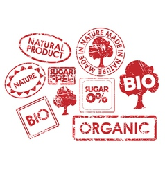 organic stamps vector image vector image
