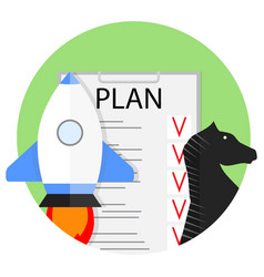 planning start up vector image