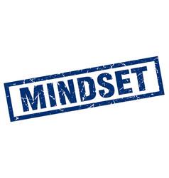 Square grunge blue mindset stamp vector