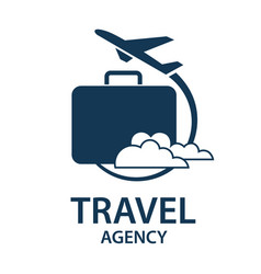 travel logo image vector image vector image