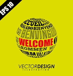 Welcome icon design vector