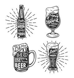 beer related typography vector image vector image