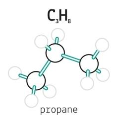 C3H8 hexamethylenetetramine molecule vector image