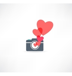 Camera icon I love photography vector image