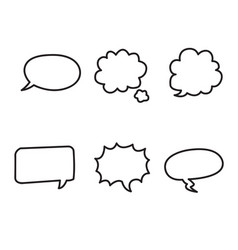 cartoon text boxes with isolated white background vector image vector image