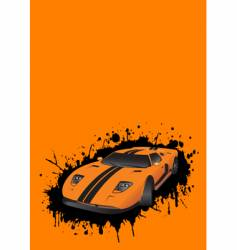 fantastic car vector image vector image