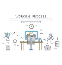 Working process vector image