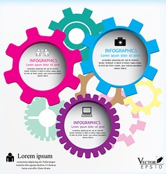 Gears can be used for workflow layout diagram vector image vector image