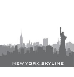 new york usa skyline american city silhouette vector image vector image