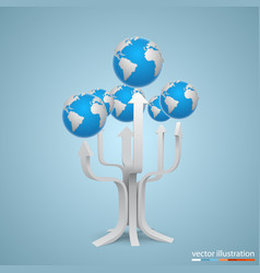 tree with arrows earth vector image