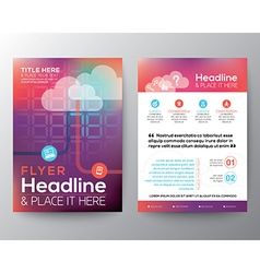 Abstract brochure flyer design layout template vector