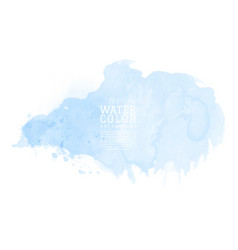 abstract isolated blue watercolor splash vector image