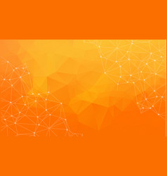 abstract space orange background chaotically vector image