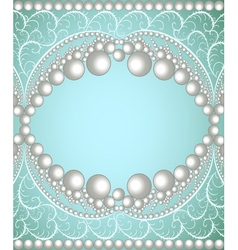 background with a band of pearls vector image