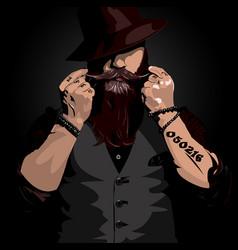 Badass beard person vector