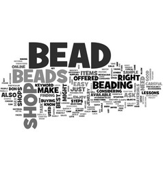 bead shop text word cloud concept vector image