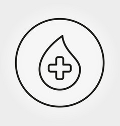 blood drop with cross universal icon vector image