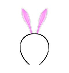 Bunny ears headband vector