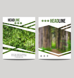 Business brochure design template with blur vector
