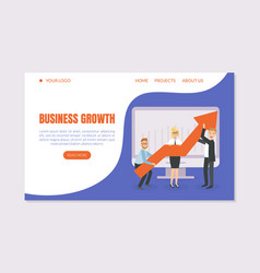 Business growth landing page template business vector