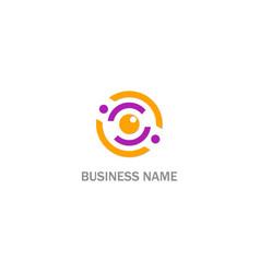 Cam eye monitor logo vector