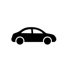 car icon black car sign transportation icon vector image