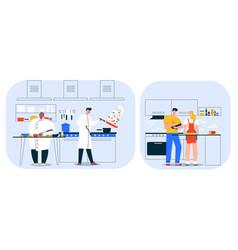 character restaurant vector image