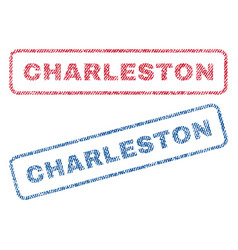 Charleston textile stamps vector