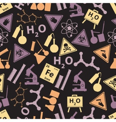 chemistry color icons dark pattern eps10 vector image