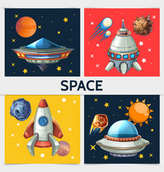 colorful space square composition vector image