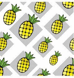creative background with hand drawn pineapple vector image