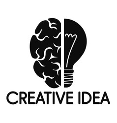 creative idea mind logo simple style vector image