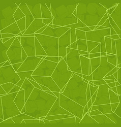 Cube abstract background vector