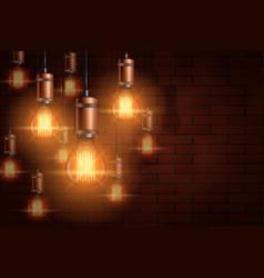 Decorative edison light bulb background vector