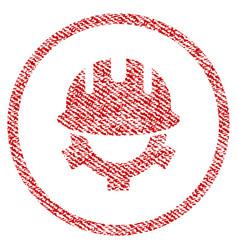 development helmet fabric textured icon vector image