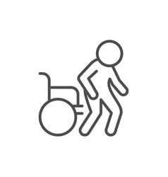 disabled person line outline icon vector image