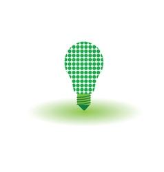 eco bulb green vector image