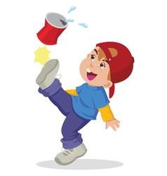 Energetic Boy vector image