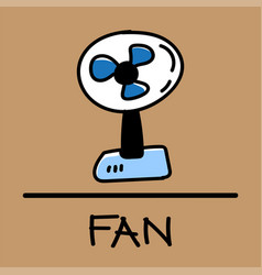 fan hand-drawn style vector image
